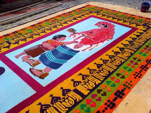 Индейский ковёр.Фотка из мексика-нета.