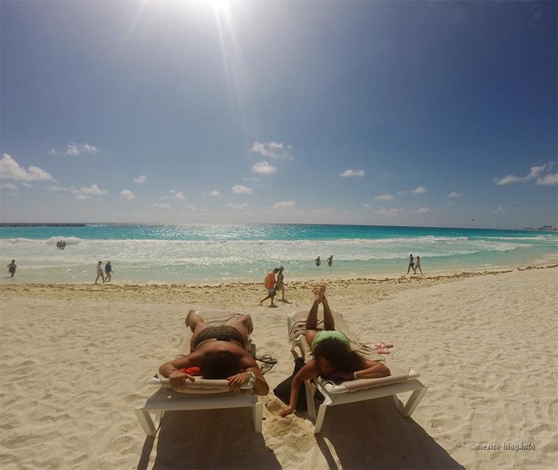 Канкун. Пляж Гавиота Асуль